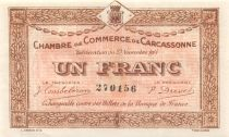 France 1 Franc - Carcassonne Chamber of Commerce 1914 - XF