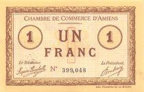France 1 Franc - Chambre de Commerce d\'Amiens 1915 - SPL
