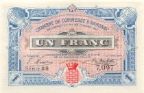 France 1 Franc - Chambre de Commerce d\'Annonay 22-02-1917 - SPL