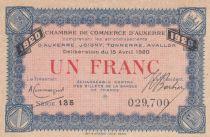 France 1 Franc - Chambre de Commerce d\'Auxerre 1920 - SPL