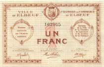 France 1 Franc - Chambre de Commerce d\'Elbeuf  - SPL