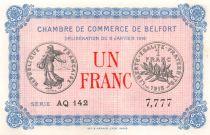 France 1 Franc - Chambre de Commerce de Belfort 1916 - SPL
