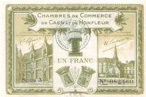 France 1 Franc - Chambre de Commerce de Caen et Honfleur 1915 - SUP