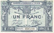 France 1 Franc - Chambre de Commerce de Calais 1916 - SUP