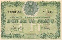 France 1 Franc - Chambre de Commerce de Châteauroux 1915 - SPL