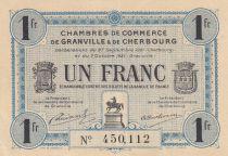 France 1 Franc - Chambre de Commerce de Cherbourg 1921 - SPL