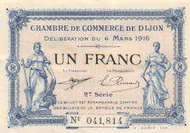 France 1 Franc - Chambre de Commerce de Dijon 1916 - SUP