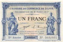 France 1 Franc - Chambre de Commerce de Dijon 1917 - SPL