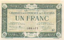 France 1 Franc - Chambre de Commerce de l\'Aveyron 12-03-1915 - SPL