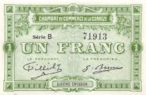 France 1 Franc - Chambre de Commerce de la Corrèze - SPL