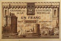 France 1 Franc - Chambre de Commerce de La Rochelle 1915 - TTB+