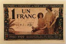 France 1 Franc - Chambre de Commerce de Nice 1920 - SUP