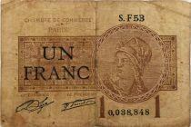 France 1 Franc - Chambre de Commerce de Paris - B+