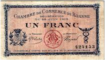France 1 Franc - Chambre de Commerce de Roanne 1915 - TTB