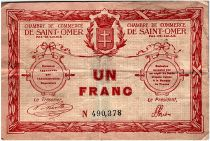 France 1 Franc - Chambre de Commerce de Saint Omer 1914 - TTB