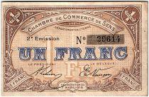 France 1 Franc - Chambre de Commerce de Sens 1916 - TTB