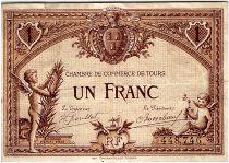 France 1 Franc - Chambre de Commerce de Tours 1915 - TTB