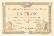 France 1 Franc - Chambre de Commerce des Deux-Sèvres 1915 - SUP