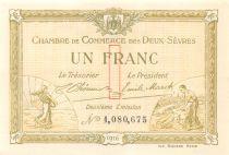 France 1 Franc - Chambre de Commerce des Deux-Sèvres 1916 - P.NEUF