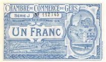 France 1 Franc - Chambre de Commerce du Gers 1916 - P.NEUF