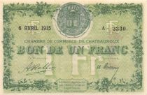 France 1 Franc - Châteauroux Chamber of Commerce 1915 - AU