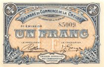 France 1 Franc - Creuse Chamber of Commerce 1917 - XF