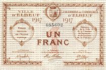 France 1 Franc - Elbeuf Chamber of Commerce 1917 - XF
