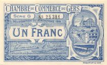 France 1 Franc - Gers Chamber of Commerce 1914 - aUNC