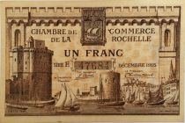 France 1 Franc - La Rochelle Chamber of Commerce 1915 - VF+