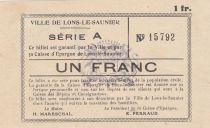 France 1 Franc , Lons-le-Saulnier Série A - grandes armoiries