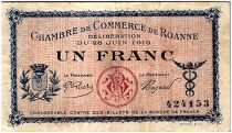 France 1 Franc - Roanne Chamber of Commerce 1915 - VF