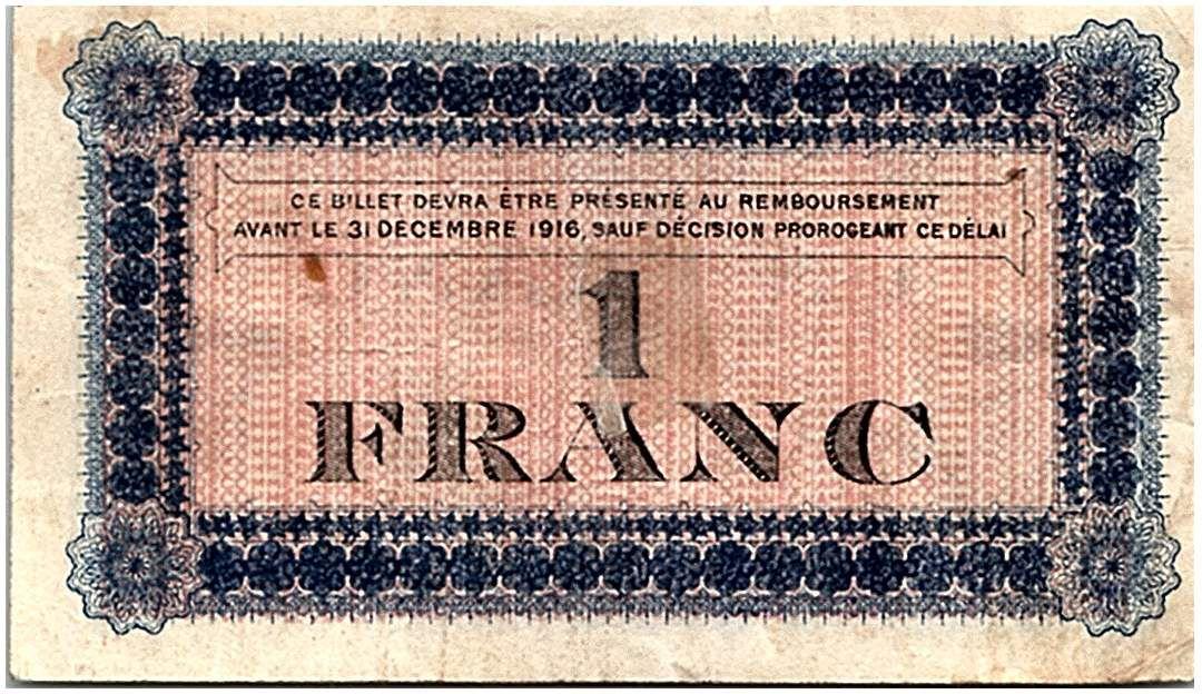 France 1 Franc - Roanne Chamber of Commerce 1915 - VF