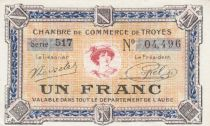 France 1 Franc - Troyes Chamber of Commerce 1918 - aUNC