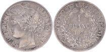 France 1 Franc, Céres  - 1872 K Bordeaux