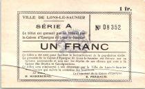 France 1 Franc, Lons-le-Saulnier Série A - Petites armoiries