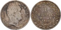 France 1 Franc  Louis-Philippe 1er - 1831 W