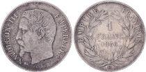 France 1 Franc, Napoleon III - 1856 D Lyon