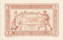 France 1 Franc  Trésorerie aux armées  - 1917  Epreuve