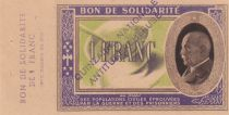 France 1 Franc 1941-1942 - AU - WWI