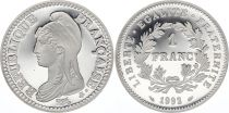 France 1 Franc 200 years of the French Republic - 1992 - Piefort - Silver - without boxe and certificate