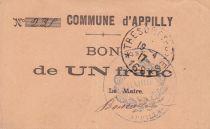 France 1 Franc Appilly Commune