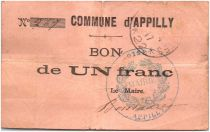 France 1 Franc Appilly Commune