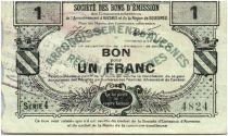 France 1 Franc Avesnes Et Solesmes Sans cachet émetteur
