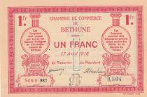 France 1 Franc Béthune - Chambre de Commerce - 1916 - SPL