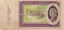 France 1 Franc Bon de Solidarité Pétain - Bol de Soupe 1941-1942 - SUP