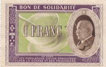 France 1 Franc Bon de Solidarité Pétain - Bol de Soupe 1941-1942 - TTB - Série A