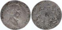 France 1 Franc Bonaparte  Premier Consul An XI  A - 1802 - Argent