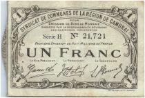 France 1 Franc Cambrai Commune