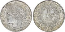 France 1 Franc Ceres - 1888 A Paris - SILVER - XF to AU