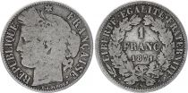 France 1 Franc Ceres - Gouvernement National -1871 A Paris